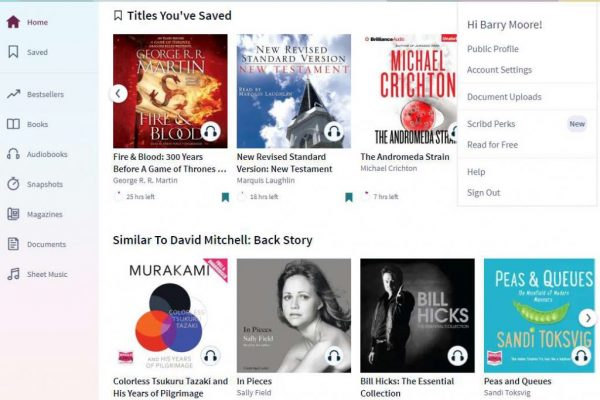 Scribd versus Audible: why I'm ditching one to get the better one