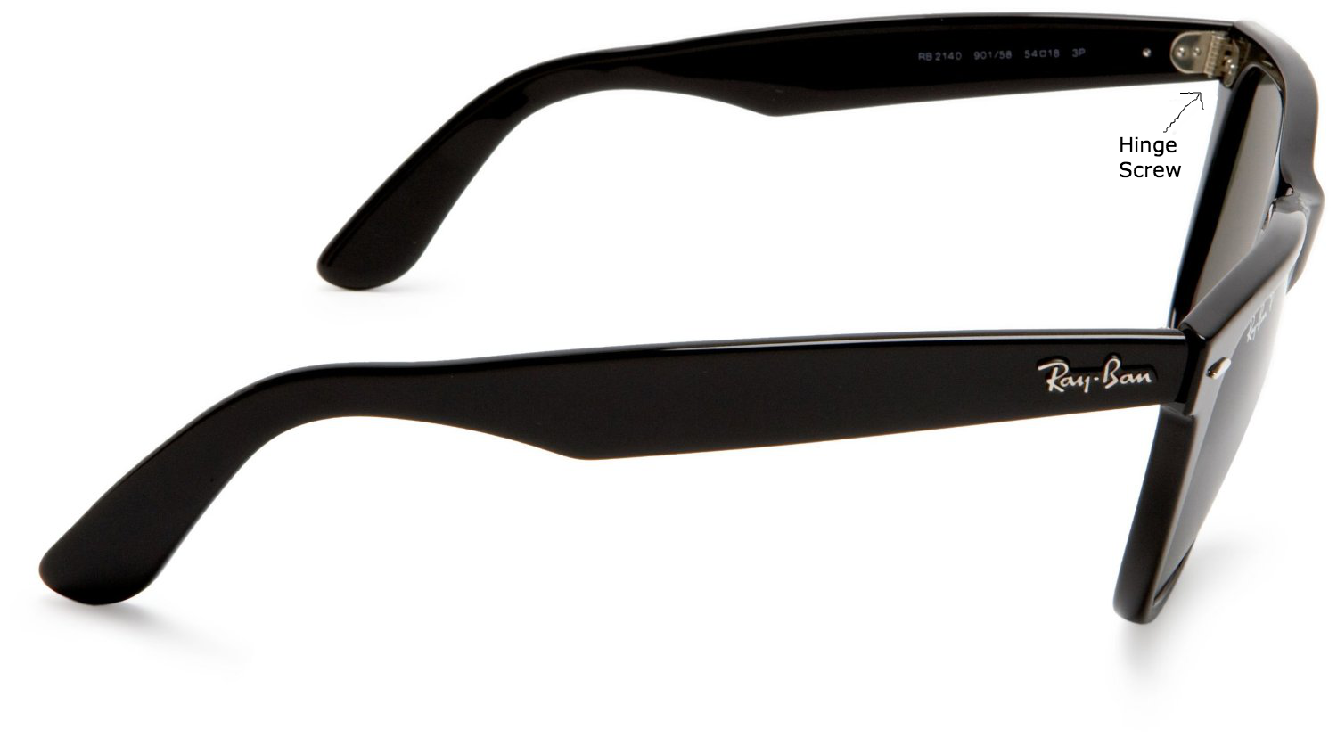 Add an external support for your sunglass with the help of rayban screws